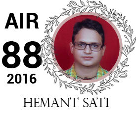 hemant sati - vajirao institute 88th Rank UPSC IAS Topper 2016
