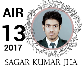 sagar kumar jha - vajirao institute 13th Rank UPSC IAS Topper 2017