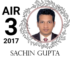 sachin gupta - vajirao institute 3rd Rank UPSC IAS Topper 2017