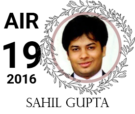 sahil gupta - vajirao institute 19th Rank UPSC IAS Topper 2016