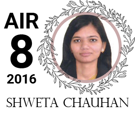 shweta chauhan - vajirao institute 8th Rank UPSC IAS Topper 2016
